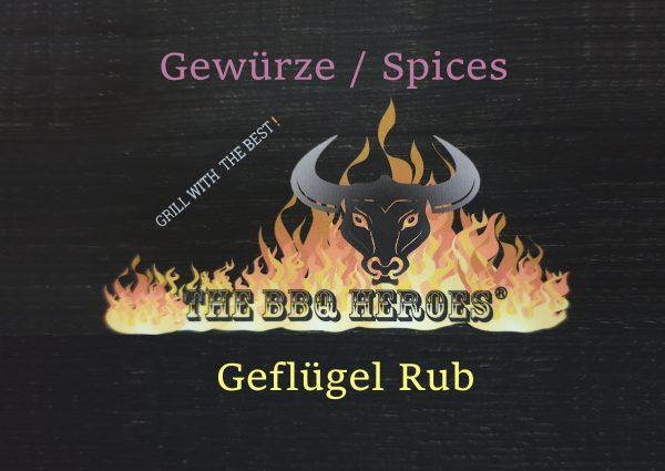 Etikett Gewürze Geflügel Rub 2020 THE BBQ HEROES®